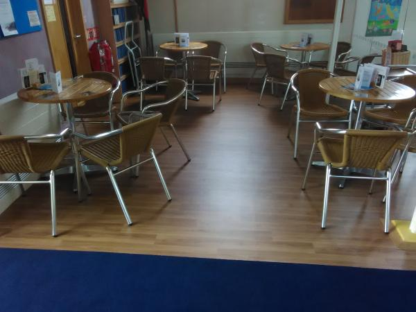 New Floor in the Cafe
