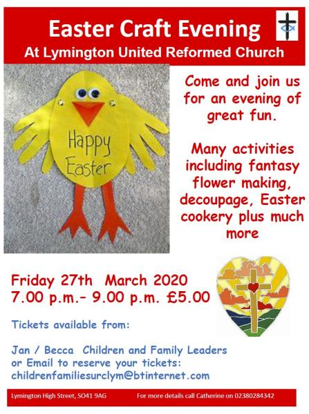 Easter Craft Evening